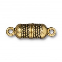 26mm Rope Design Magnetic Clasp by TierraCast, Antique Gold, 1 Set