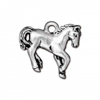 20mm Yearling Horse Charm by TierraCast, Antique Silver