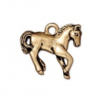 20mm Yearling Horse Charm by TierraCast, Antique Gold