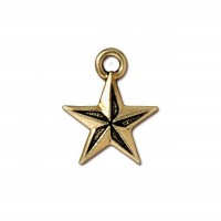 18mm Nautical Star Charm by TierraCast, Antique Gold, 1 Piece