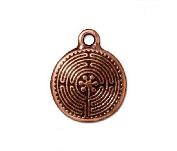 20mm Labyrinth Charm by TierraCast, Antique Copper
