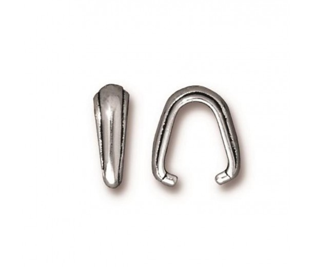 12mm Nouveau Pinch Bail by TierraCast, Antique Silver