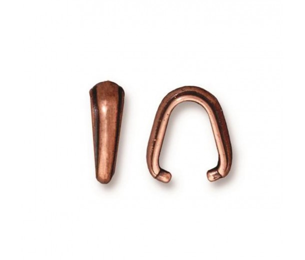 12mm Nouveau Pinch Bail by TierraCast, Antique Copper
