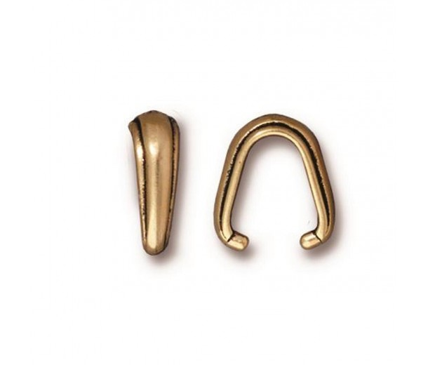 12mm Nouveau Pinch Bail by TierraCast, Antique Gold