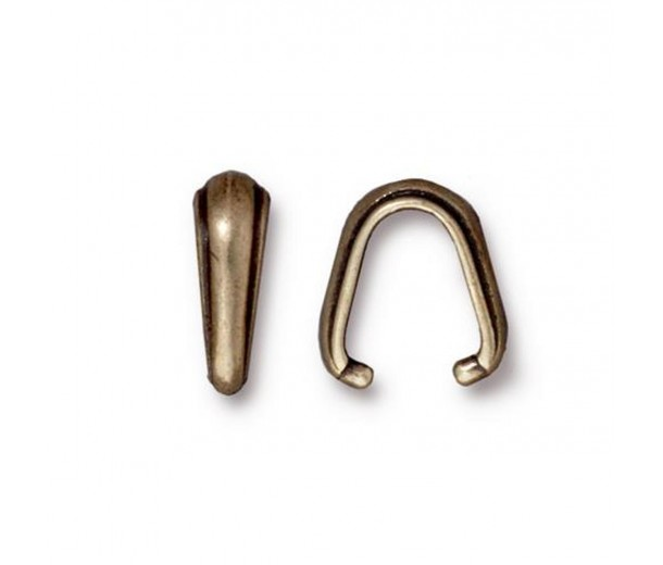 12mm Nouveau Pinch Bail by TierraCast, Antique Brass