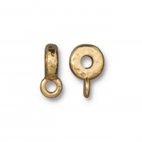12mm Hammered Slider Bail by TierraCast, Gold Plated