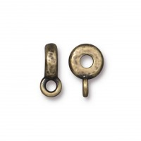 12mm Hammered Slider Bail by TierraCast, Antique Brass