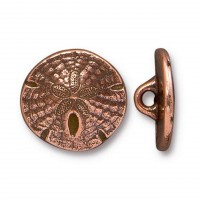 17mm Sand Dollar Button by TierraCast, Antique Copper
