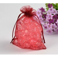 Organza Pouch, Red Sheer, 5.5x4 inch