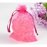 Organza Pouch, Pink Sheer, 5.5x4 inch