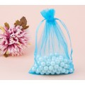 Organza Pouch, Light Blue Sheer, 5.5x4 inch