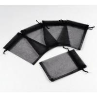 Organza Pouch, Black Sheer, 5.5x4 inch