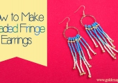 How to Make Beaded Fringe Earrings
