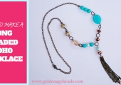 How to Make a Long Beaded Boho Necklace