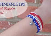 DIY Independence Day Themed Bracelet Tutorial