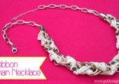 DIY Ribbon and Chain Necklace Tutorial