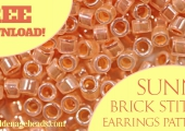 Sunny Brick Stitch Earrings Pattern