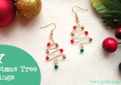 DIY Christmas Tree Earrings Tutorial