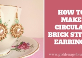 How to Make Circular Brick Stitch Earrings