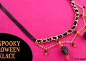 DIY Spooky Skull Halloween Necklace