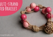 DIY Multi-Strand Knotted Bracelet Project