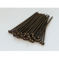 1 Inch 21 Gauge Head Pins, Antique Brass, Pack of 100