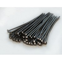 1 Inch 21 Gauge Head Pins, Gunmetal, Pack of 100