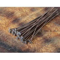 2 Inch 20 Gauge Head Pins, Antique Copper