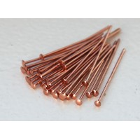 2 Inch 21 Gauge Wide Head Head Pins, Solid Copper