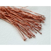 2 Inch 24 Gauge Head Pins, Rose Gold