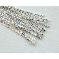 2 Inch 24 Gauge Head Pins, Silver Plated, Pack of 100