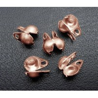 2x4mm Side Clamp Bead Tips, Antique Copper, Pack of 100