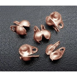 2x4mm Side Clamp Bead Tips, Antique Copper