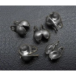 2x4mm Side Clamp Bead Tips, Gunmetal