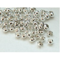 3mm Crimp Bead Covers, Silver Tone, Pack of 100