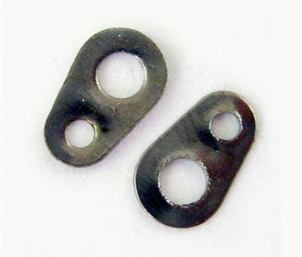 6x4mm Chain Tabs, Gunmetal