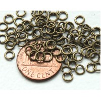 4mm 20 Gauge Open Jump Rings, Round, Antique Brass