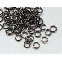 4mm 21 Gauge Open Jump Rings, Round, Gunmetal, Pack of 100