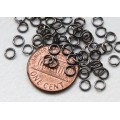 4mm 21 Gauge Open Jump Rings, Round, Gunmetal