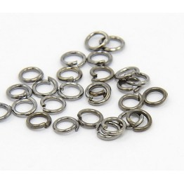 5mm 18 Gauge Open Jump Rings, Round, Gunmetal