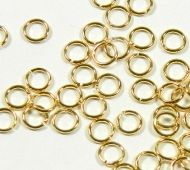 5mm 18 Gauge Open Jump Rings, Round, Gold Tone