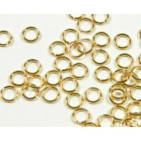 5mm 18 Gauge Open Jump Rings, Round, Gold Tone, Pack of 100