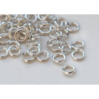 5mm 18 Gauge Open Jump Rings, Round, Silver Tone