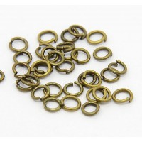 5mm 20 Gauge Open Jump Rings, Round, Antique Brass, Pack of 100