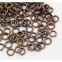 5mm 20 Gauge Open Jump Rings, Round, Antique Copper, Pack of 100