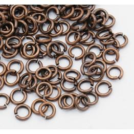 5mm 20 Gauge Open Jump Rings, Round, Antique Copper