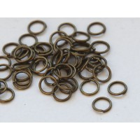 6mm 21 Gauge Open Jump Rings, Round, Antique Brass