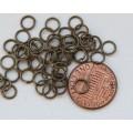 6mm 21 Gauge Open Jump Rings, Round, Antique Brass
