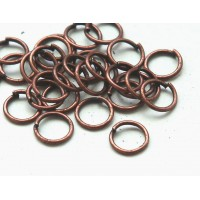 6mm 21 Gauge Open Jump Rings, Round, Antique Copper