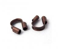 4x5mm Wire Protectors, Antique Copper